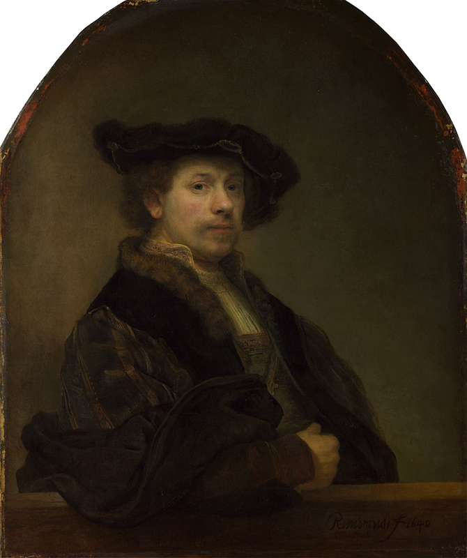 Rembrandt, 1606 - 1669 Self Portrait at the Age of 34 1640 Oil on canvas, 102 x 80 cm Bought, 1861 NG672 http://www.nationalgallery.org.uk/paintings/NG672 Photo © The National Gallery, London