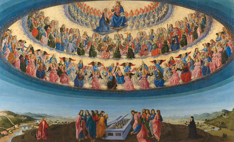 Francesco Botticini, about 1446 - 1497 The Assumption of the Virgin probably about 1475-6 Tempera on wood, 228.6 x 377.2 cm Bought, 1882 NG1126 http://www.nationalgallery.org.uk/paintings/NG1126
