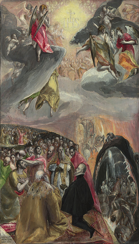 El Greco, 1541 - 1614 The Adoration of the Name of Jesus late 1570s Oil and egg tempera on pine, 55.1 x 33.8 cm Bought, 1955 NG6260 http://www.nationalgallery.org.uk/paintings/NG6260