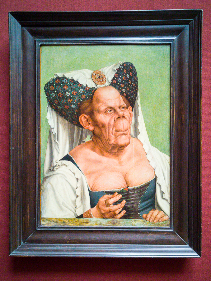 An Old Woman ('The Ugly Duchess') - Quinten Massys, about 1513, National Gallery, London.
