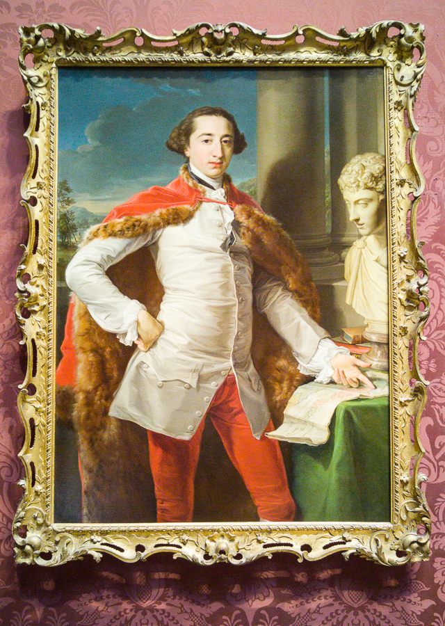 'Portrait of Richard Milles' probably 1760s, Pompeo Girolamo Batoni, National Gallery, London.