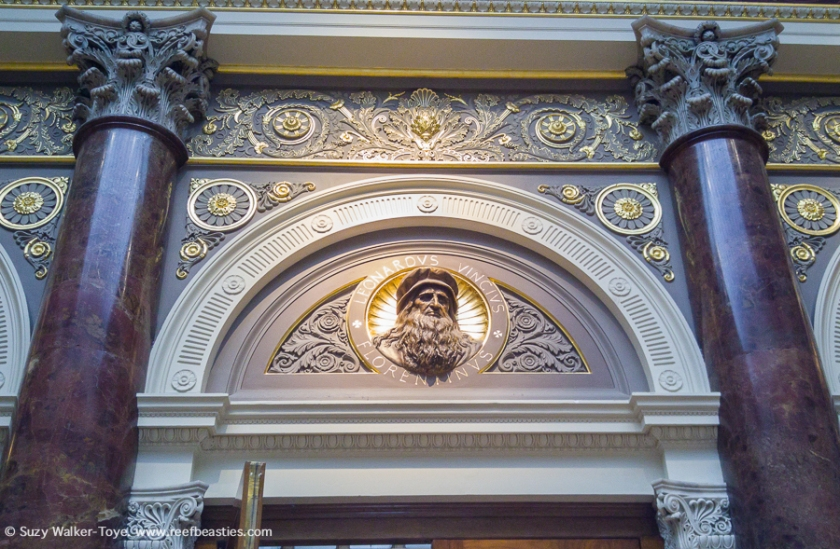 Relief detail inside National Gallery main entrance