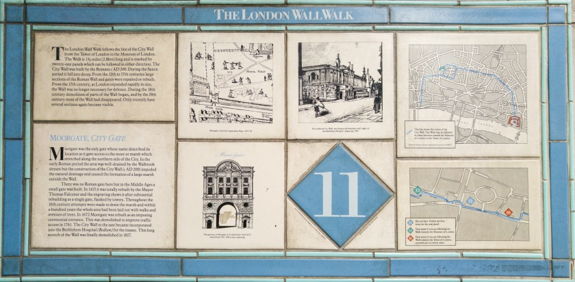 London Wall Walk Panel 11, click to see text/details