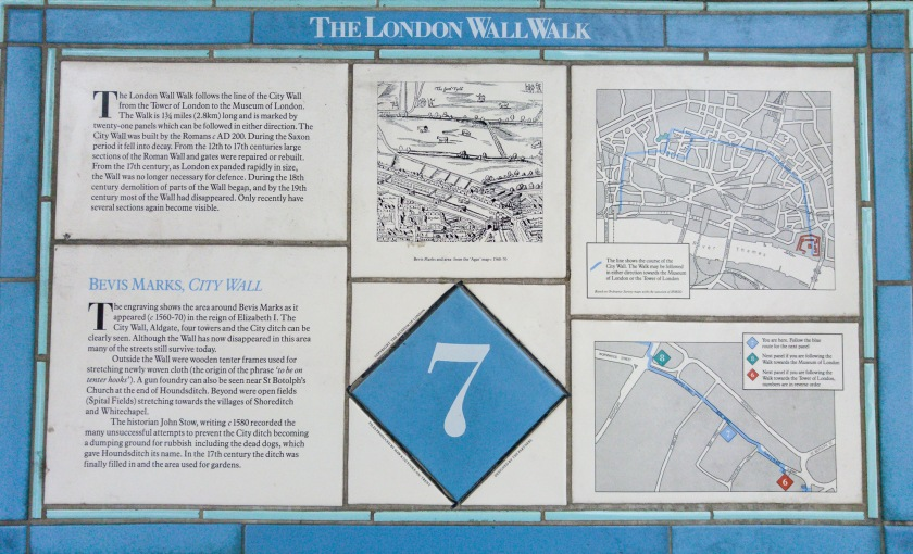 London Wall Walk panel 7 - click to see larger to read text