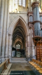 Pointed Arch - South Transept - looking through South Choir to Retrochoir. Equilateral arch.