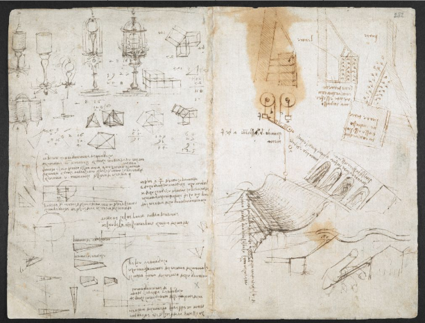 Leonardo da Vinci notebook on 'The Codex Arundel', British Library