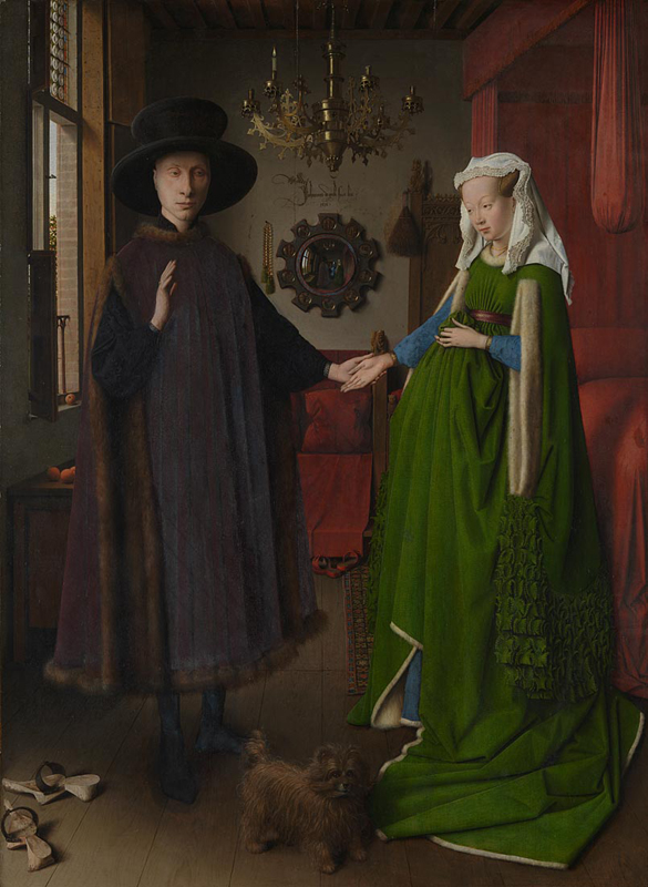 Jan van Eyck, active 1422; died 1441 Portrait of Giovanni(?) Arnolfini and his Wife 1434 Oil on oak, 82.2 x 60 cm Bought, 1842 NG186 http://www.nationalgallery.org.uk/paintings/NG186