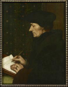Hans HOLBEIN II (Augsburg, 1497 - London, 1543) Erasmus H. 0.43 m; W. 0.33 m © 2011 Musée du Louvre/Martine Beck-Coppola