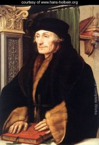 Erasmus, 1523, Hans Holbein the Younger Oil on wood, 73.6 x 51.4 cm © Longford Castle Collection https://www.nationalgallery.org.uk/paintings/hans-holbein-the-younger-erasmus