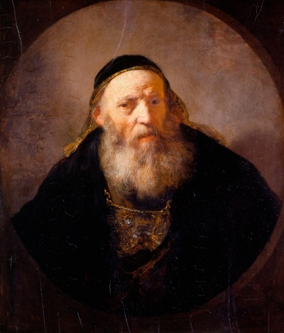 Rembrandt van Rijn (Leiden 1606-Amsterdam 1669) A Rabbi with a Cap, Dated 1635 Oil on panel, 72.6 x 62.3 cm | RCIN 405519 Royal Collection Trust/© Her Majesty Queen Elizabeth II 2016