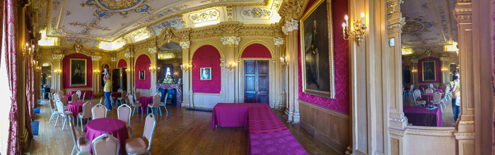 Hylands House - banqueting room panorama
