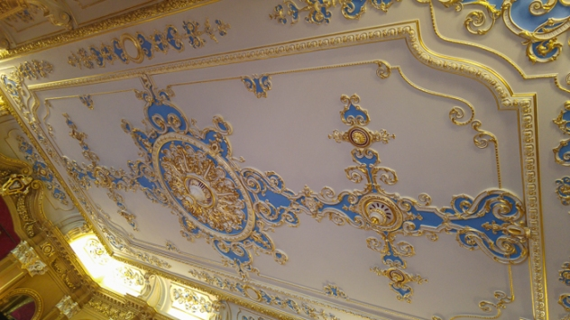 Ceiling, Hylands House - banqueting room