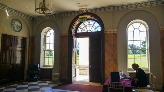 Hylands House - Main doorway exit