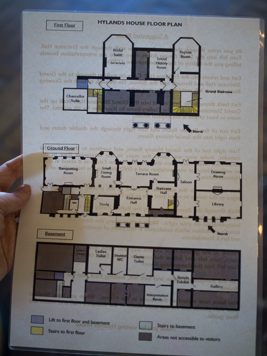Hylands House - floor plan