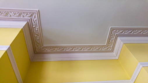 Hylands House - Repton Room ceiling detail