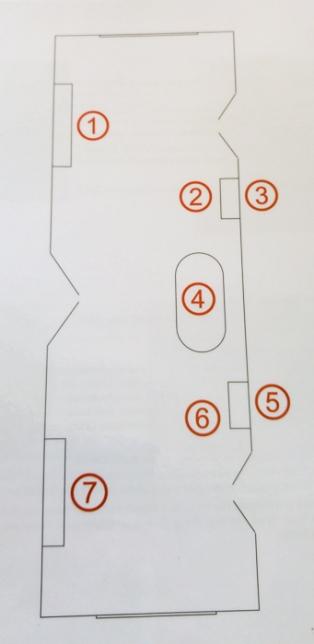 Saloon plan of objects