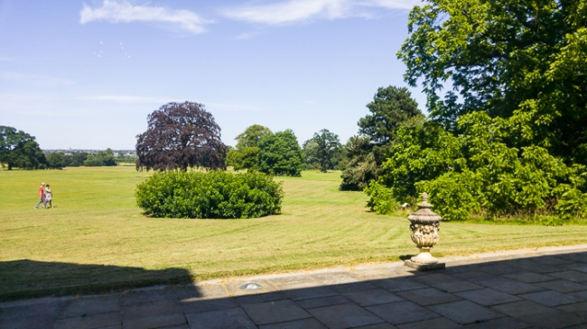 View of the grounds from the Saloon