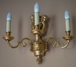 Hylands House - small dining room, wall lighting fixture
