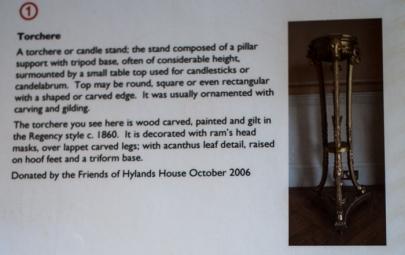 Hylands House - Antique Torchere