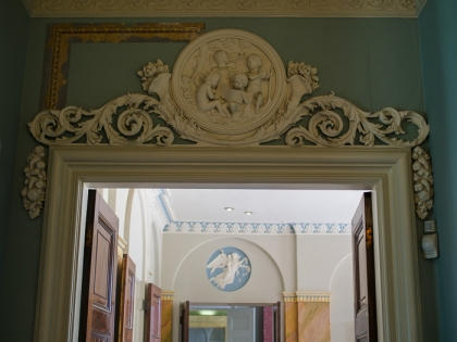 Hylands House - doorwar to the entrance hall