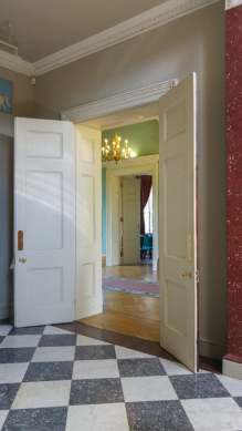 Hylands House - Doorway to the Saloon