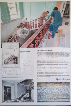 Hylands House - Grand Staircase - Restoration information