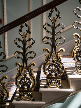 Hylands House - Grand staircase banister