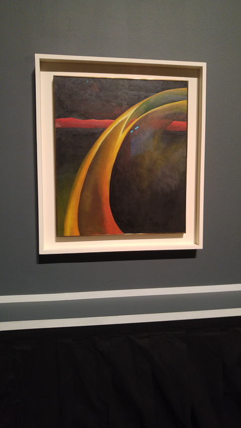 Red and Orange Streak. 1919. Oil paint on canvas. Georgia O'Keeffe