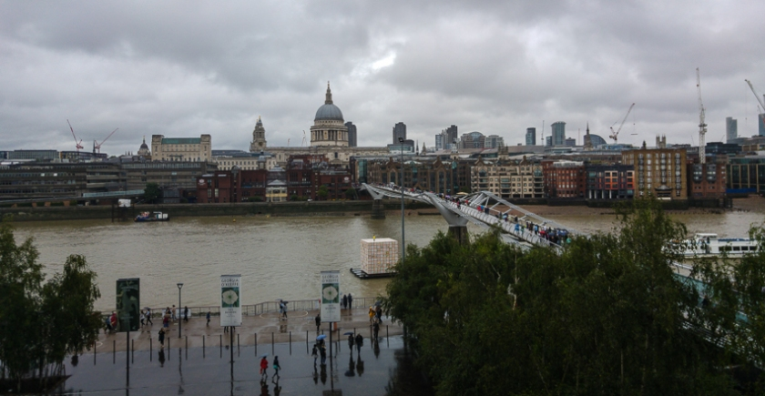 View fro the 3rd floor balcony of the Tate modern