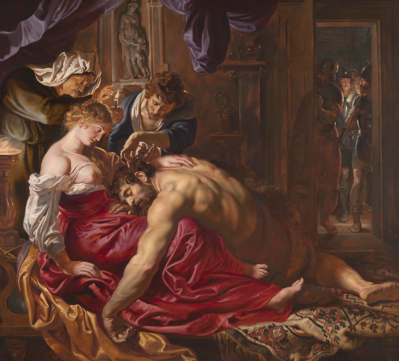 Peter Paul Rubens, 1577 - 1640 Samson and Delilah about 1609-10 Oil on wood, 185 x 205 cm Bought, 1980 NG6461 http://www.nationalgallery.org.uk/paintings/NG6461