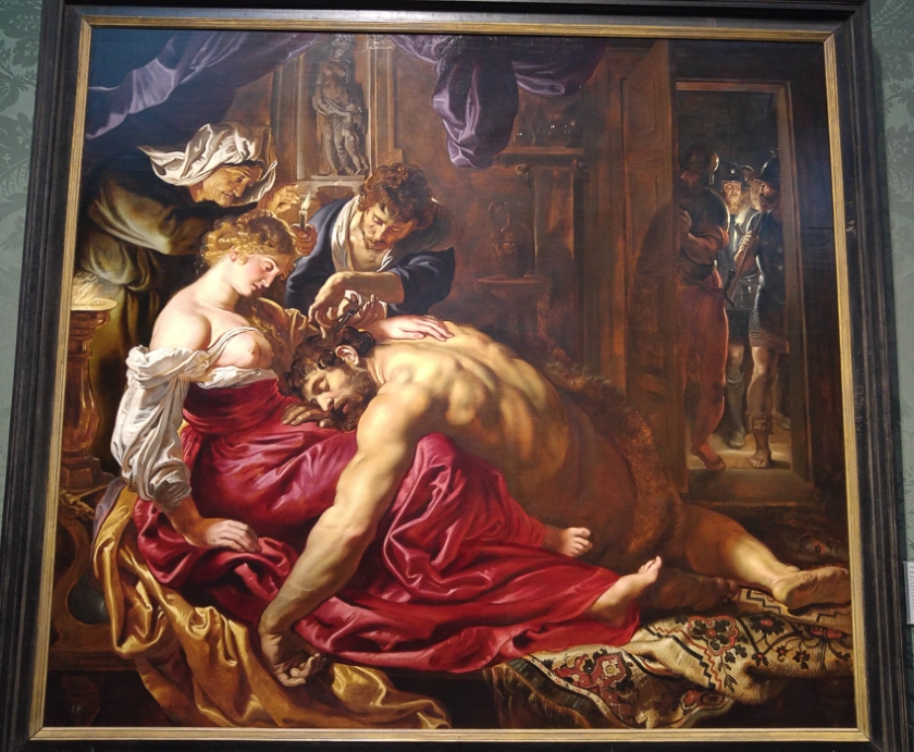Peter Paul Rubens, 1577 - 1640 Samson and Delilah about 1609-10 Oil on wood, 185 x 205 cm Bought, 1980
