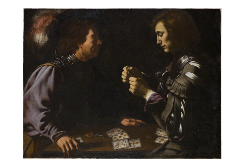 Antiveduto Gramatica Card Players, ca. 1615 Oil on canvas 34 3/10 × 45 7/10 in 87 × 116 cm © Historic England