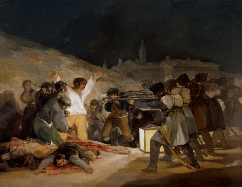 "The 3rd of May 1808 in Madrid or ""The Executions"" Goya y Lucientes, Francisco de Copyright ©Museo Nacional del Prado https://www.museodelprado.es/en/the-collection/art-work/the-3rd-of-may-1808-in-madrid-or-the-executions/5e177409-2993-4240-97fb-847a02c6496c"